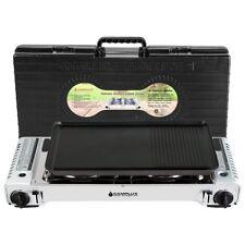 Camplux Dual Fuel Portable Propane & Butane Double Stove with Non Stick Grill