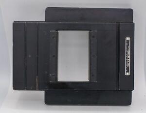 """Rare - Graflex Sliding Film Back 2 1/4"""" x 3 1/4"""" - 2 Exposures On 4 x 5 Graflok"""