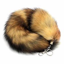 Fashion Faux Fox Fur Tail Keychain Tassel Bag Tag Pendant For Women's Handbag