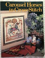 Carousel Horses in Cross Stitch Pattern Book Linda Gillum Kooler Many Designs