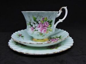 Rare Royal Albert Teacup Trio - Un-Named Set #23 (Lily of The Valley) Montrose