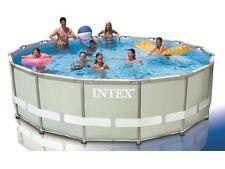 Intex 28324 Ultra Frame 488 x 122 cm Stahlrahmen Swimming Pool ohne Zubehör
