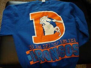 Vintage Denver Broncos Crewneck Sweatshirt Old Logo USA Made XLarge
