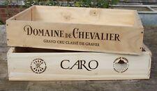 2 x vino in legno recuperata BOX/Cassa/MENSOLA/Cassetto/Ostacolare/vassoio/Pet Bed/PIANTINE