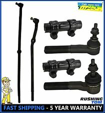2000-2002 Dodge Ram 1500 2500 3500 4WD 6 Pc Kit Front Inner & Outer Tie Rod Ends