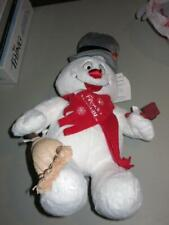"""Frosty The Snowman Build a Bear Plush Toy 18"""" Lights / Sings - Limited Edition"""