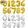 32inch Gold Silver Number Foil Balloons Digit air Ballons Happy Birthday Wedding