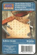 ArtMinds Leather Alphabet & Number Stamp Set 36pc 0.25in / 6mm