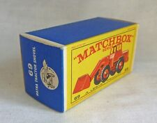Lesney Matchbox MB69 Hatra Tractor Shovel Original Empty Box