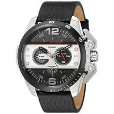 Diesel Ironside DZ4361  Men's Chronograph Black Dial Black Leather Strap Watch