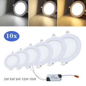 10x LED EinbauSpot Einbaustrahler Deckenleuchte Panel Ultraslim  Wandleuchte