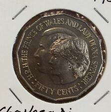 1981 50 cent unc coin - Charles and di