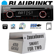 Blaupunkt Autoradio per Smart Fortwo 450 Radio CD/MP3/USB Set Grigio Veicoli