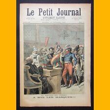 LE PETIT JOURNAL Suppl. illustré LE MERCREDI DES CENDRES 18 février 1893