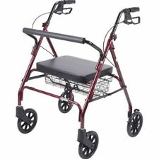 Heavy Duty Medical Bariatric Walker Rollator Large Wide Seat up to 500 lb Obese