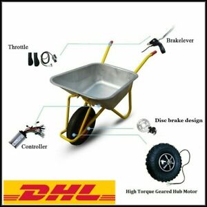"""New 14.5"""" Electric Wheelbarrow Gear Motor 24v36v 300w 350w 500w All Terrain"""
