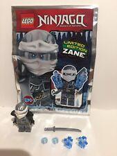 Lego Ninjago Minifigura Zane Edición Limitada Bolsa De Papel De Aluminio