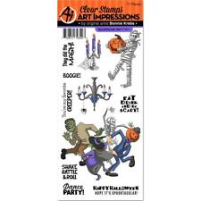 Art Impressions Spooktacular Stamps - Halloween, Mummy, Monster Mash, Party
