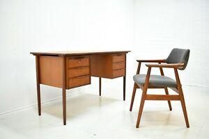 Schreibtisch Teak 60er Danish Design Mid Century Vintage Writing Desk