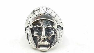 925 Silver Face Ring Size 7.5 TS826