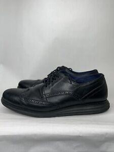 Cole Haan Wingtip Grand Shoes Mens Size 12M Black Leather Oxford Lunar