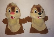 "Chip & Dale Rescue Rangers Vintage Plush Puppets Stuffed Animal Disney 9"" Toy"