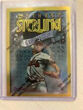 GREG MADDUX RARE 1996 Topps Finest Sterling Gold Atlanta Braves #145 Unpeeled