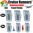 Cruise Ship Flask Kit Rum Runners For Cruise Alcohol Liquor Booze Bags Plastic