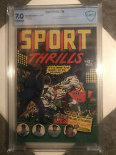 SPORT THRILLS #15  CBCS 7.0 F/VF  (OW) L. B. Cole Cover. 1951