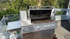Bbq Patio Classic Stainless Steel Gas Grill W/ Rotisserie - 3Burner S.S.