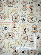 Halloween Under A Spell Apothecary Cream Cotton Fabric Wilmington By The Yard