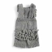Baby Girl Boy Knitted Wool Pleated Jumpsuit Crochet  Rompers Overall Outfits