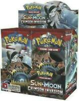 Pokemon Sun & Moon CRIMSON INVASION 36 pack BOOSTER BOX Factory Sealed