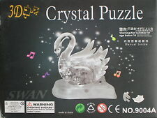 *NEW* 3D Swan (Gray) Crystal Puzzle Jigsaw WITH FLASH & SOUND (from US Seller)