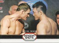 Michael Bisping Yoshihiro Akiyama Topps UFC Moment Of Truth Showdown Shots Black