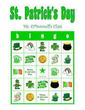 St. Patrick's Patty's Day Personalized Irish Party Game Bingo Cards and Activity
