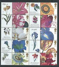GRAN BRETAÑA 2003 Flor Cuadros Conjunto De 10 in Litho Nuevo sin montar
