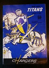 NEW YORK TITANS vs LOS ANGELES CHARGERS PROGRAM. 2nd AFL GAME EVER! AUG 6, 1960