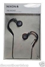 NIXON THE SOCKET All Black 3.5mm Jack In-Ear Custom  Headphones