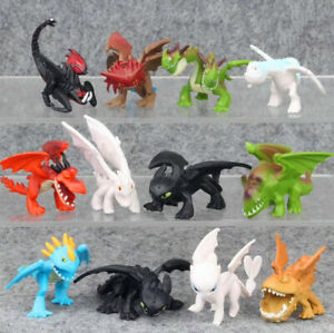 12pcs How to Train Your Dragon Action Figures Doll Cake Topper Decor Playset Toy