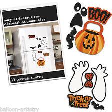 11 Pièce Halloween Trick or Treat Spooks magnétique porte du réfrigérateur décorations