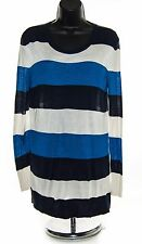 EQUIPMENT Femme 100% Silk Crew Neck Tunic Pullover Sweater Striped XS