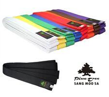 Taekwondo Belt Martial Arts Budo Pine Tree Cotton 7 Colours Size 78 11/16-126in