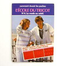 L'Ecole du Tricot n°4 - Comment réussir les poches - La Mode Au Soleil - 1979