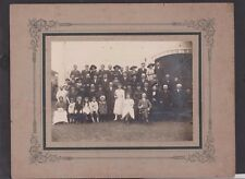 PHOTO ANCIENNE MARIAGE CAMPAGNE GROUPE PHOTOGRAPHIE POPULAIRE-F.LAMBER/MIREBEAU