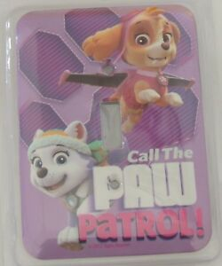 NEW Nickelodean Metal Light Switch Wall Plate Call the Paw Patrol Purple