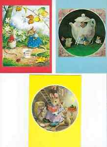 3 MEDICI COLLECTABLE POSTCARDS BY ARTIST RACEY HELPS
