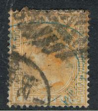 CEYLON 1872 - 80 8c YELLOW QUEEN VICTORIA
