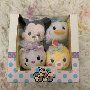 NIB US Disney Store Minnie Marie and Friends Dressy Tsum Tsum Box Set of 4