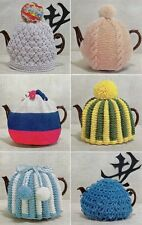VINTAGE KNITTING PATTERN 6 TEA COSY COSIES TO MAKE CHUNKY & DOUBLE KNIT